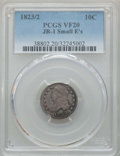 Bust Dimes, 1823/2 10C Small E's, JR-1, R.3, VF20 PCGS. PCGS Population: (2/8).NGC Census: (0/6). VF20. Mintage 440,000. ...