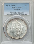 Morgan Dollars, 1878 7/8TF $1 Strong MS64 PCGS. PCGS Population: (1787/365). NGC Census: (1097/97). CDN: $385 Whsle. Bid for problem-free N...