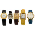 Estate Jewelry:Watches, Lady's Cultured Pearl, Gold Watches. ... (Total: 5 Items)