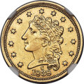 Classic Quarter Eagles, 1838-C $2 1/2 -- Improperly Cleaned -- NGC Details. XF. Breen-6147, Variety 20, R.3...