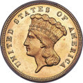 Three Dollar Gold Pieces, 1879 $3 MS64 PCGS Secure. CAC....