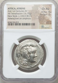Ancients:Greek, Ancients: ATTICA. Athens. Ca. 165-42 BC. AR tetradrachm (16.74 gm).NGC Choice AU 4/5 - 3/5....