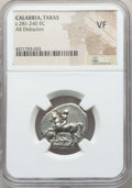 Ancients:Greek, Ancients: CALABRIA. Tarentum. Ca. 281-240 BC. AR stater ordidrachm. NGC VF....
