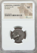 Ancients:Greek, Ancients: CORINTHIA. Corinth. Ca. 375-345 BC. AR stater. NGC XF....