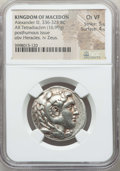 Ancients:Greek, Ancients: MACEDONIAN KINGDOM. Alexander III the Great (336-323 BC).AR tetradrachm (16.99 gm). NGC Choice VF 5/5 - 4/5....