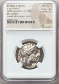 Ancients:Greek, Ancients: ATTICA. Athens. Ca. 440-404 BC. AR tetradrachm (17.19gm). NGC Choice AU 4/5 - 4/5. ...