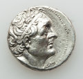 Ancients:Greek, Ancients: PTOLEMAIC EGYPT. Ptolemy III Euergetes (247/6-221/20 BC).AR tetradrachm (14.15 gm). Choice XF, brushed,scratches. ...