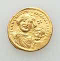 Ancients:Byzantine, Ancients: Heraclius (AD 610-641), with Heraclius Constantine. AVsolidus (4.48 gm). XF....