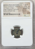 Ancients:Judaea, Ancients: JUDAEA. Roman Procurators. Marcus Ambibulus (AD 9-12). AEprutah (2.33 gm). NGC Choice Fine 4/5 - 4/5....