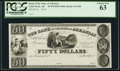 Obsoletes By State:Arkansas, Little Rock, AR- Bank of the State of Arkansas $50 18__ G48 Rothert 400-4 Proof. ...