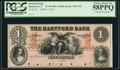 Obsoletes By State:Connecticut, Hartford, CT- Hartford Bank $1 18__ as G72b Proof. ...