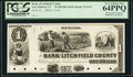 Obsoletes By State:Connecticut, New Milford, CT- Bank of Litchfield County $1 18__ as G2 Proof. ...