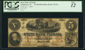 Obsoletes By State:Florida, Tallahassee, FL- State Bank of Florida $5 Jan. 7, 1860 G2a Benice 40A. ...