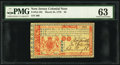 Colonial Notes:New Jersey, New Jersey March 25, 1776 £6 PMG Choice Uncirculated 63.. ...