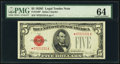 Small Size:Legal Tender Notes, Fr. 1530* $5 1928E Legal Tender Note. PMG Choice Uncirculated 64.. ...
