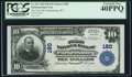 National Bank Notes:West Virginia, Parkersburg, WV - $10 1902 Plain Back Fr. 624 The First NB Ch. #180. ...