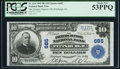 National Bank Notes:Pennsylvania, Pittsburgh, PA - $10 1902 Plain Back Fr. 624 The Farmers Deposit NBCh. # 685. ...