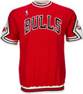 Basketball Collectibles:Uniforms, 1987-88 Sedale Threatt Game Worn Chicago Bulls Shooting Sh...