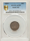 Bust Dimes, 1829 10C Small 10C AU55 PCGS Secure. PCGS Population: (23/161 and0/1+). NGC Census: (0/2 and 0/0+). Mintage 770,000. ...