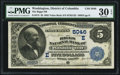 National Bank Notes:District of Columbia, Washington, DC - $5 1882 Value Back Fr. 573 The Riggs NB Ch. # (E)5046. ...