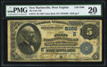 National Bank Notes:West Virginia, New Martinsville, WV - $5 1882 Value Back Fr. 574 The First NB Ch.# (S)5266. ...