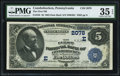 National Bank Notes:Pennsylvania, Conshohocken, PA - $5 1882 Date Back Fr. 533 The First NB Ch. #(E)2078. ...