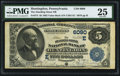 National Bank Notes:Pennsylvania, Huntingdon, PA - $5 1882 Value Back Fr. 574 The Standing Stone NBCh. # (E)6090. ...