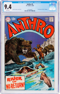 Anthro #5 (DC, 1969) CGC NM 9.4 White pages