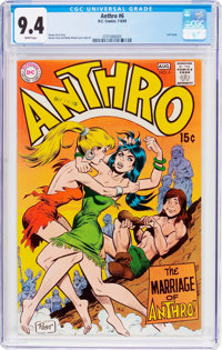 Anthro #6 (DC, 1969) CGC NM 9.4 White pages