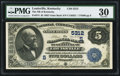 National Bank Notes:Kentucky, Louisville, KY - $5 1882 Value Back Fr. 574 The NB of Kentucky Ch.# (S)5312. ...