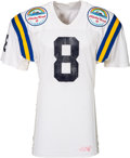 Football Collectibles:Uniforms, 1987 Troy Aikman Game Worn UCLA Bruins Aloha Bowl Jersey, MEARS A10 - Photo Matched!. ...
