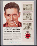 Autographs:Photos, Ted Williams Signed Lucky Strike Advertisement. . ...