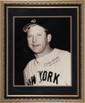 Baseball Collectibles:Photos, 1990's Mickey Mantle Signed Oversized Photograph....