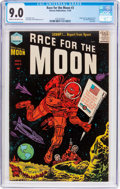 Golden Age (1938-1955):Science Fiction, Race For the Moon #3 (Harvey, 1958) CGC VF/NM 9.0 Cream tooff-white pages....