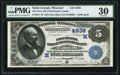 National Bank Notes:Missouri, Saint Joseph, MO - $5 1882 Date Back Fr. 534 The First NB ofBuchanan County Ch. # (M)4939. ...