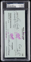 Autographs:Index Cards, 1982 Ted Williams Signed Check. . ...