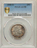 Barber Quarters: , 1898-O 25C AU58 PCGS Secure. PCGS Population: (31/62 and 0/5+). NGC Census: (10/41 and 0/0+). CDN: $640 Whsle. Bid for prob...