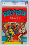 Golden Age (1938-1955):Superhero, Roly Poly Comic Book #12 Cosmic Aeroplane Pedigree (Green Publishing Co., 1946) CGC VF 8.0 Off-white pages....