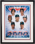 Autographs:Photos, 300 Win/3,000 Strikeout Club Multi-Signed Lithograph. . ...