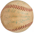Autographs:Baseballs, Mickey Mantle Single Signed Baseball, Game Used Ball from 1964 American Legion World Series - Rollie Fingers Pitcher.. ...