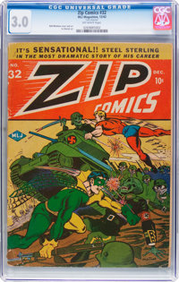 Zip Comics #32 (MLJ, 1942) CGC GD/VG 3.0 Off-white pages