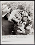 Football Collectibles:Photos, 1965 Vince Lombardi and Ray Nitschke Original Wire Photograph - Highly Significant! ...