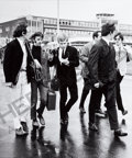 Music Memorabilia:Photos, Beatles - Four Photographs by Günter Zint of the Beatles and Crowd in Hamburg (1966).... (Total: 4 Items)