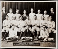 Baseball Collectibles:Photos, 1920 Commerce High School Baseball Team Type IV Photograph with LouGehrig.. ...