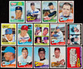 Baseball Cards:Lots, 1965 Topps Baseball Collection (287) With One Autographed Plus Six2000's Signed Cards. . ...