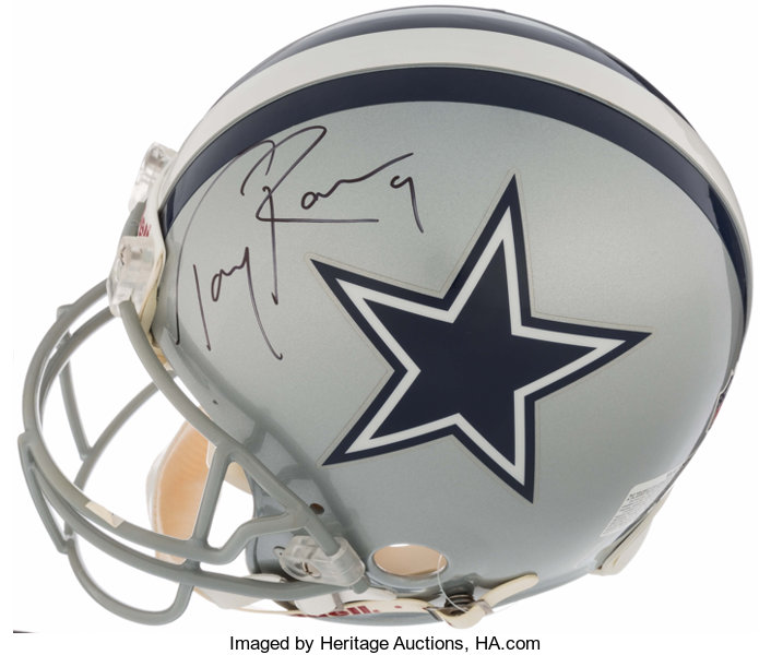 first rate aa186 0dd8b Tony Romo Signed Dallas Cowboys Full Size Replica Helmet ...