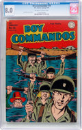 Golden Age (1938-1955):War, Boy Commandos #10 (DC, 1945) CGC VF 8.0 Off-white to whitepages....