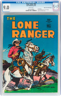 Four Color #82 The Lone Ranger - Mile High Pedigree (Dell, 1945) CGC VF/NM 9.0 White pages