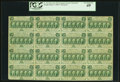 Fractional Currency:First Issue, Fr. 1312 50¢ First Issue Complete Sheet of Sixteen PCGS Extremely Fine 40.. ...