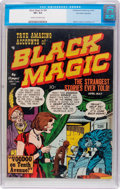 Golden Age (1938-1955):Horror, Black Magic V1#4 Palo Alto Collection (Crestwood/Headline, 1951)CGC VF+ 8.5 Cream to off-white pages....